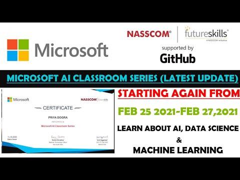 Microsoft Free Certificate | AI Classroom Series ( Update ) | Artificial ...