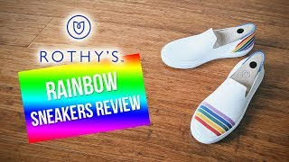 Rothy's Rainbow Sneakers Review PLUS $20 coupon code!