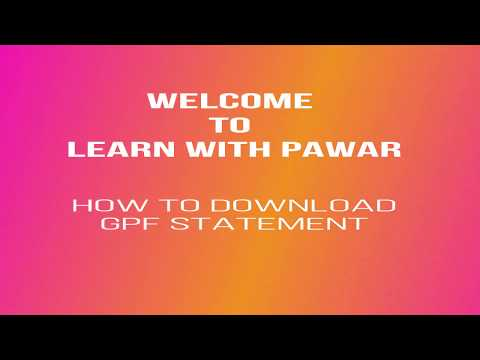 Download How To Download Gpf Statement By Pawar | Dangdut Mania