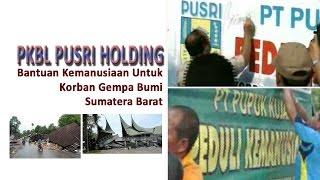 PKBL PUSRI HOLDING  BANTUAN KEMANUSIAAN GEMPA SUMBAR 2009