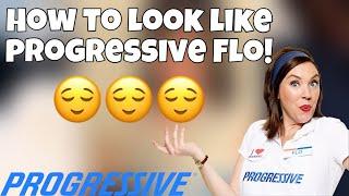 How to look like Flo the Progressive lady! | Halloween 🎃