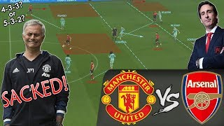 Tactics Mourinho Should've Used With Manchester United To Make MU Great Again: Man United vs Arsenal