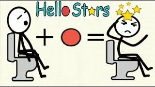Hello Stars - игра видео головоломка  Привет Звезда о приключениях стикмана  #Мобильныеигры