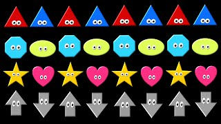 Patterns 1 - ABAB Pattern with Shapes & Colors - The Kids' Picture Show (Fun & Educational)