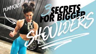 3 SECRETS FOR BIGGER SHOULDERS (Dont Make This Mistake)