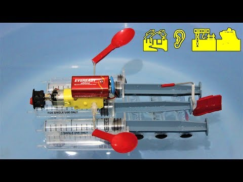 How to make a Motor Boat using Syringe - EASY