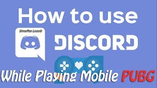 How To use Discord For Mobile Pubg ( hindi Tutorial )