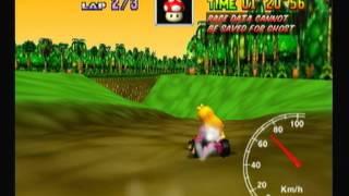 """Mario Kart 64 - DK's Jungle Parkway 3lap 2'21""""40"""