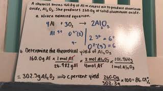 Limiting Reagent & Percent Yield Practice Worksheet #4