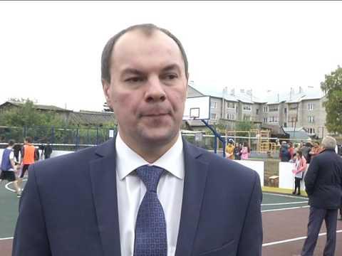 Открытие многофункциональной спортивной площадки в с. Кутерем