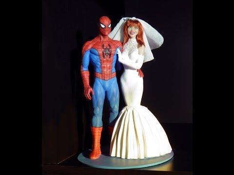 Spider-Man and Mary Jane Watson Custom Wedding Cake Topper