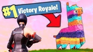 The PIÑATA ONLY CHALLENGE! (Fortnite Battle Royale)