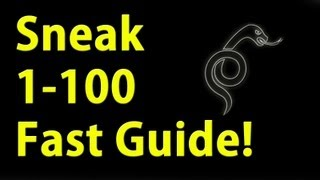 Sneak 1-100 in 10 minute's Guide Skyrim Fastest way to level
