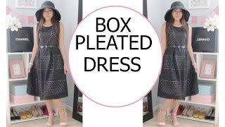 DIY EYELET DRESS with a CONTRASTING COLOR LINING | DIY CUTE SUMMER DRESS | SEW ALDO