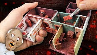 Making GRANNY'S First Floor Miniature House in POLYMER CLAY!