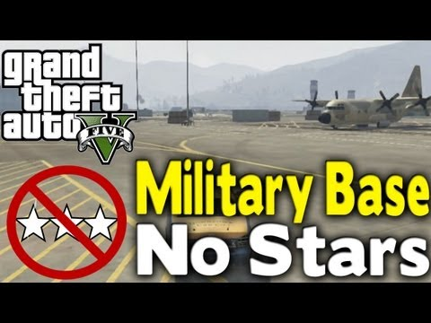 GTA 5 - GET INTO MILITARY BASE WITH NO STARS (How To / Tutorial) [GTA V] Mp3