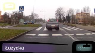 preview picture of video 'Egzamin na prawo jazdy - Trasa egzaminacyjna - Zielona Góra'