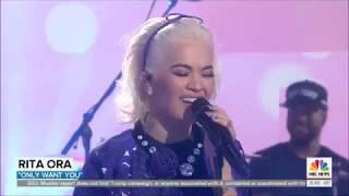 """Rita Ora sings """"Only Want You"""" Live in Concert Today Show 2019"""