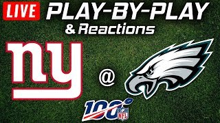 Giants vs Eagles | Live Play-By-Play & Reactions