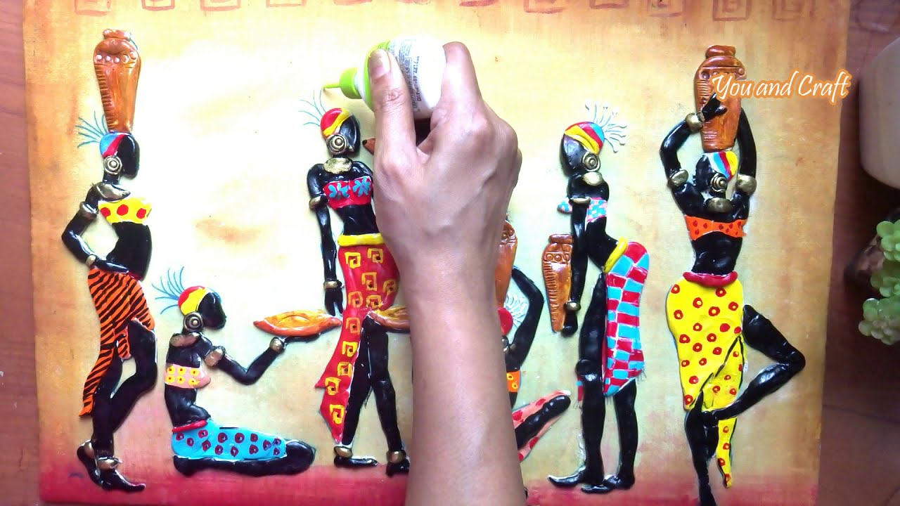 mural painting african tribe on canvas by you and craft