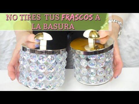 Reciclando Envases de Velas |  Frascos Decorados para la Sala, Baño y Accesorios