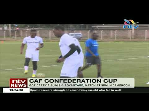 Gor Mahia carry a slim 2-1 advantage when they face New Stars of Cameroon