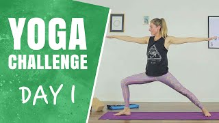 Let's Get started - Day 1 - The 30 Days of Yoga Challenge