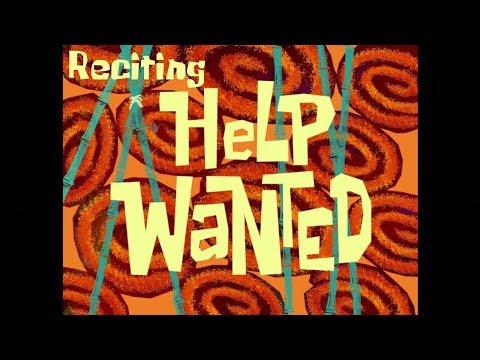 Reciting SpongeBob Episodes: Help Wanted