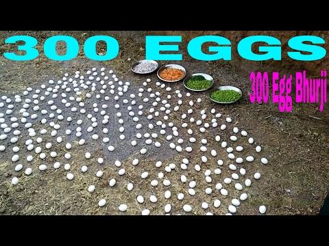 300 Egg Cooking   Egg Bhurji Used 300 Eggs Indian Scrambled Eggs Anda Bhurjee