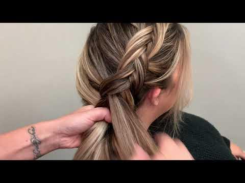Side Fishtail braid into a bubble braid tutorial by @hairbymichellerau on @nc_artistry