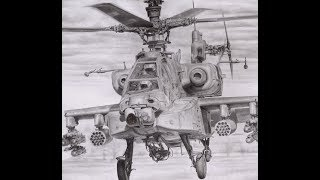 Drawing An AH-64 Apache (Aviation Art)