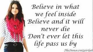 Live Like There's No Tomorrow-Selena Gomez & The Scene(Lyrics On Screen)