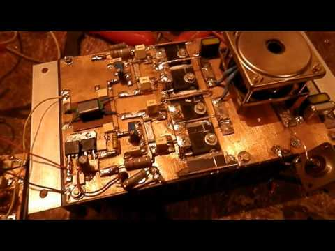 QRP to QRO Mosfet HF Linear amplifier SD2943 - ham fred - Video