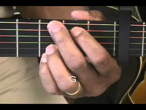 How To Play Guitar Chords Tutorial #23 Capo Fret 3 Key C Minor Wanting Qu Style EricBlackmonGuitar