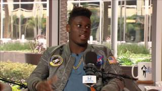 University of Miami TE David Njoku on Getting Advice From Former Tight Ends - 3/22/17