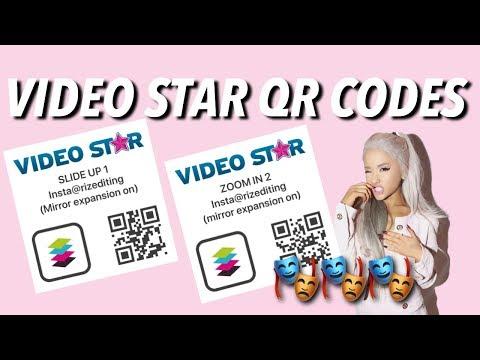 VIDEO STAR QR CODES (TRANSITIONS)!!!❤️❤️