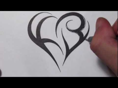 download link youtube how to create a heart using letters tribal initials tattoo design. Black Bedroom Furniture Sets. Home Design Ideas