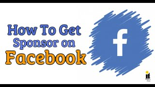How To Get Sponsor on Facebook Page Hindi