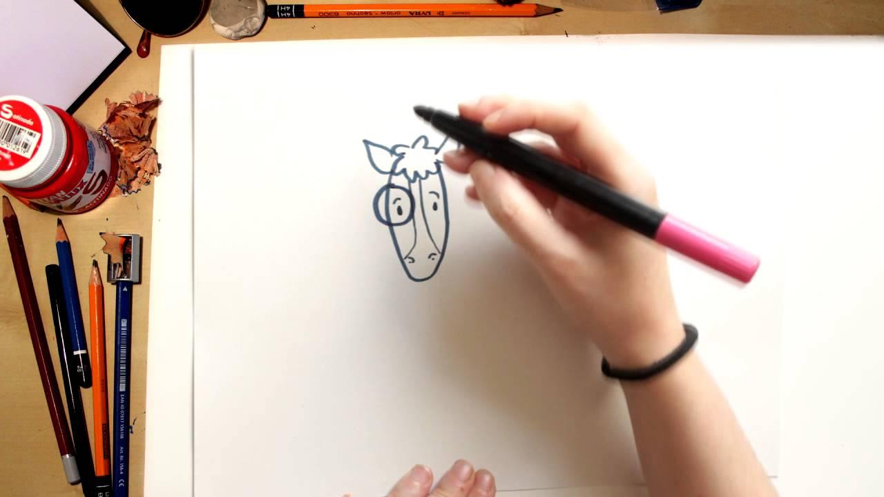 Como desenhar o Cavalinho - desenhos da Turma da Vaquinha