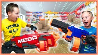Nerf War: Arsenal Unboxing TROUBLE (part 2) Crazy Bro vs Bro Nerf Battle