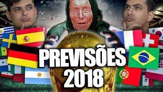Copa do Mundo Russia 2018, quem vai ser o campeão? Hoje vocês vão ver as previsões de alguns videntes. ----------------------------------------------------------------------------------------------------  CONHEÇA NOSSO CANAL SECUNDÁRIO: https://www.youtube.com/user/vcsabiagames?sub_confirmation=1  Compre nosso livro: https://www.saraiva.com.br/voce-sabia-de-400-coisas-que-voce-deveria-saber-9719858.html  SAIBA MAIS SOBRE O JOGO DO VOCÊ SABIA: https://www.estrela.com.br/jogo_voce_sabia/p ----------------------------------------------------------------------------------------------------  ---SIGA NAS NOSSAS REDES SOCIAIS --- Insta Lukas Marques: https://www.instagram.com/lukasmarques/ Instagram Daniel Molo: https://www.instagram.com/danimolo Instagram Você Sabia?: https://www.instagram.com/vcsabiavideos  Twitter Lukas Marques: https://twitter.com/LukasMarqs Twitter Daniel Molo: https://twitter.com/danielmologni Twitter Você Sabia?: https://twitter.com/vcsabia  Facebook Você Sabia?: https://www.facebook.com/vcsabia/ Facebook Daniel Molo: https://www.facebook.com/DanielMologni Facebook Lukas Marques: https://www.facebook.com/lukasmarkes  Faça parte do nosso grupo do Facebook: https://www.facebook.com/groups/vcsabiagrupo/  Snap - Lukasmarqs/ Danielmolo  Contato Profissional: comercial@vcsabia.me  Edição:  Gabriel Cremasco
