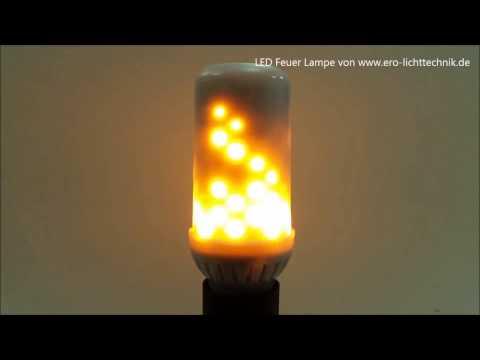 LED Feuer Lampe - realistisch wirkende Fackel