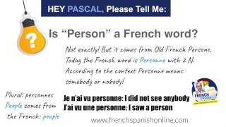 Is Person a French word?