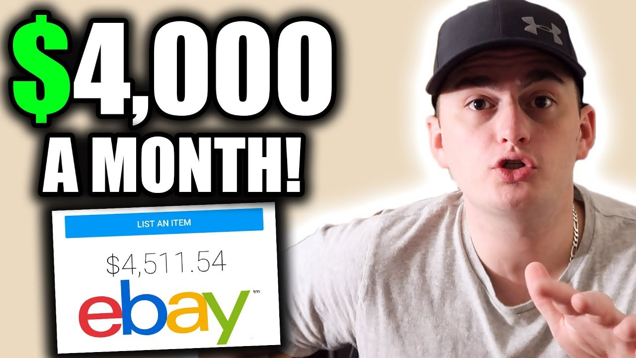 MAKING $4,000 A MONTH on eBay!!! HOW TO EARN MONEY ONLINE thumbnail