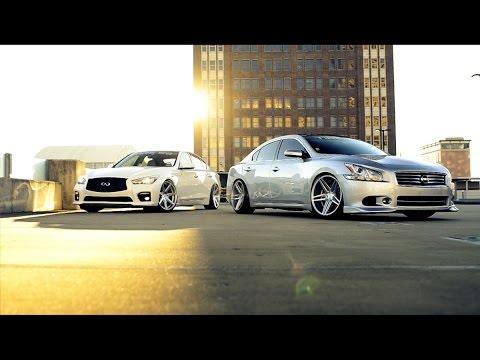 Infiniti Q50S and Nissan Maxima SV for Tire59 and Rohana Wheels