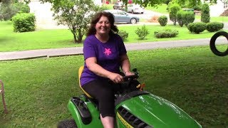 Learning to Drive a John Deere D105 Lawn Tractor