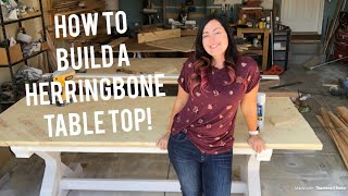 How To Build A Herringbone Top Table