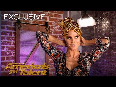 Heidi Klum Creates A Look With The AGT Bag of Fashion – America's Got Talent 2018
