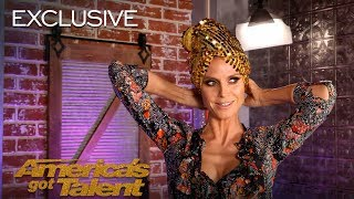 Heidi Klum Creates A Look With The AGT Bag of Fashion - America