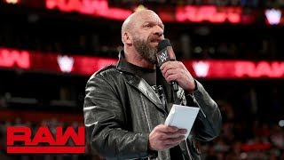 Triple H will put his career on the line against Batista at WrestleMania: Raw, March 25, 2019